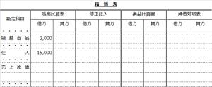 精算表(売上原価計算を売上原価勘定で計算する問題)